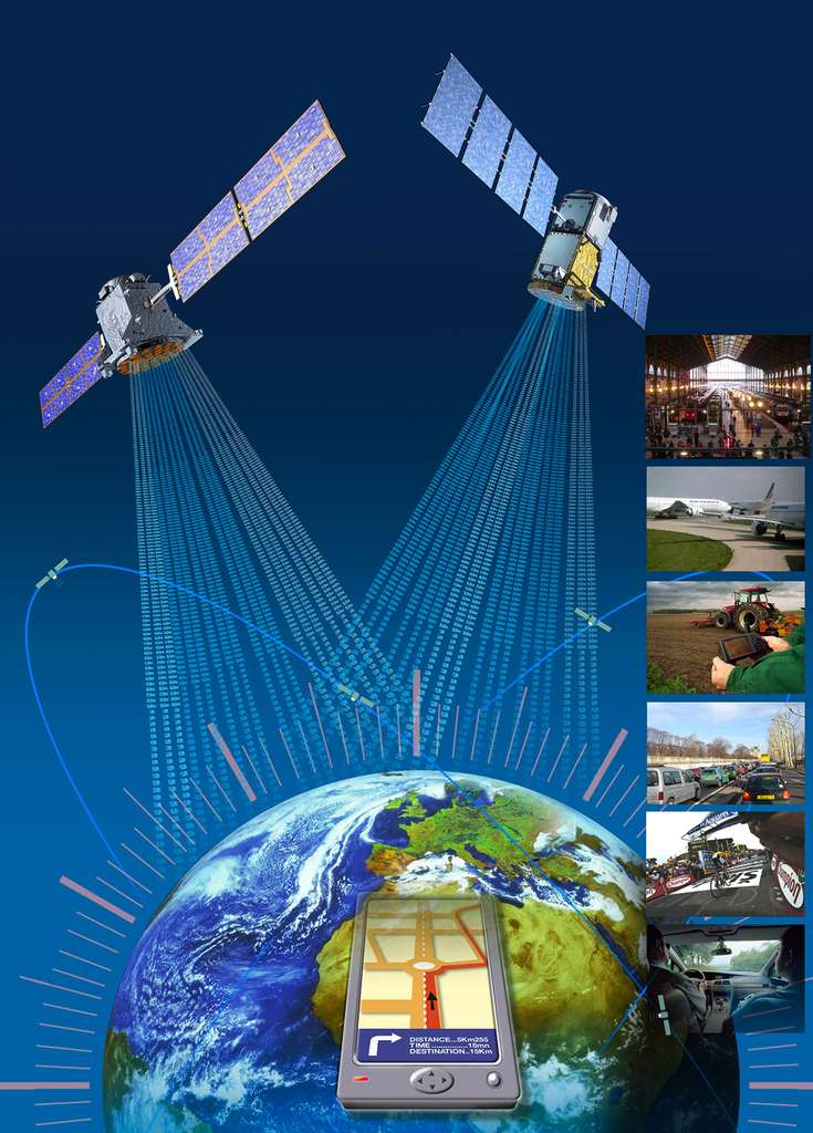 Le programme Galileo appartient à l'UE, qui le finance. La Commission européenne, en sa qualité de responsable de l'ensemble du programme, assure la gestion et la supervision de la mise en œuvre de toutes les activités afférentes. Le déploiement de Galileo, la conception et le développement de systèmes de nouvelle génération ainsi que le développement technique de l'infrastructure sont confiés à l'ESA. © ESA/ZIG-ZAG - Manuel Pedoussaut, Philippe Sebirot, Stephane Corvaja