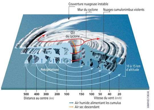 Structure d'un cyclone. © Prim.net