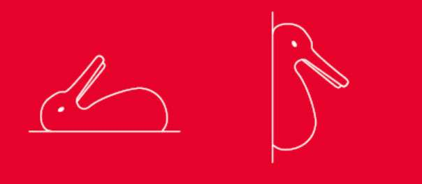 Lapin ou canard ? Notre cerveau peut interpréter cette image différemment selon son orientation… © Le Pommier