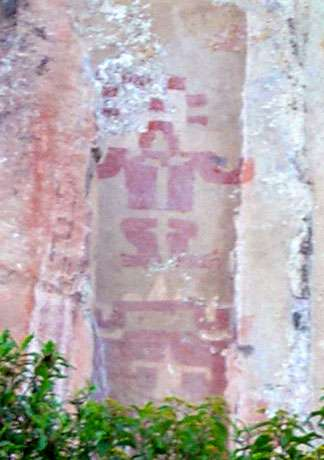 Figure 5 : être surnaturel de style formatif peint à Poro Poro (dép. de Cajamarca). © V. Chamussy, reproduction et utilisation interdites