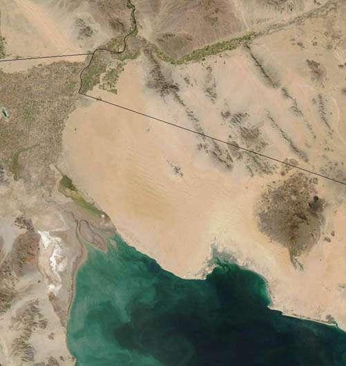 L'embouchure du fleuve dans la mer de Cortez. © DR
