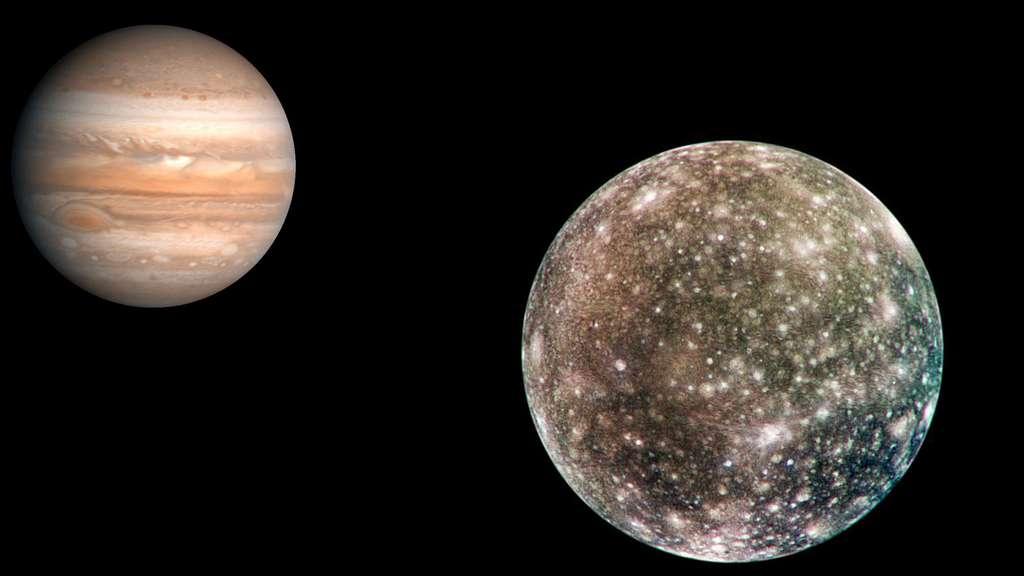 Jupiter et sa lune Callisto