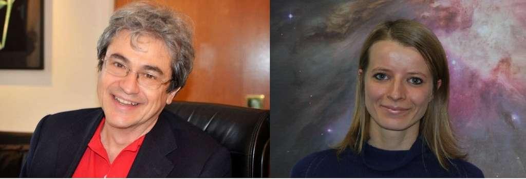 Pionniers de la gravitation et de la cosmologie quantique à boucles, Carlo Rovelli et Francesca Vidotto ont récemment renouvelé le concept de trou noir en le remplaçant par celui d'étoile de Planck. La singularité centrale des trous noirs y serait éliminée car issue d'un artefact de traitement classique, non quantique, de la géométrie de l'espace-temps à petite échelle. © Patrimoine de l'Institut international des sciences théoriques, Francesca Vidotto.
