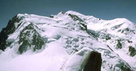 Mont Blanc du Tacul, Mt-Blanc de l'aiguille du Midi, arête des Cosmiques.