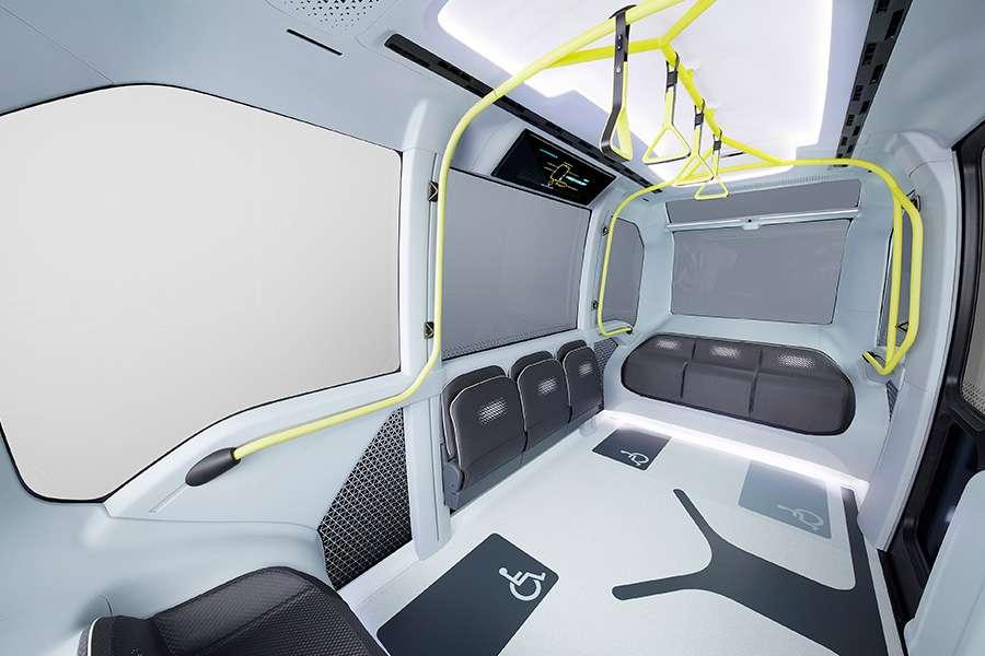 Habitacle repensé de la navette e-Palette de Toyota pour Tokyo 2020. © Toyota