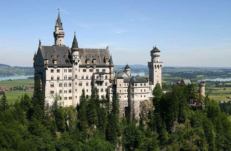 Le château de Neuschwanstein, l'un des plus célèbres d'Allemagne