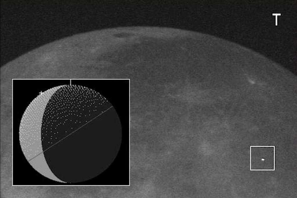 À l'instar de la Terre au même moment, la Lune devrait être frappée par de nombreux météores de l'essaim des Camelopardalides. De rares et furtifs flashs lumineux pourront alors être surpris par des astronomes amateurs d'Amérique du Nord très vigilants. © Spaceweather.