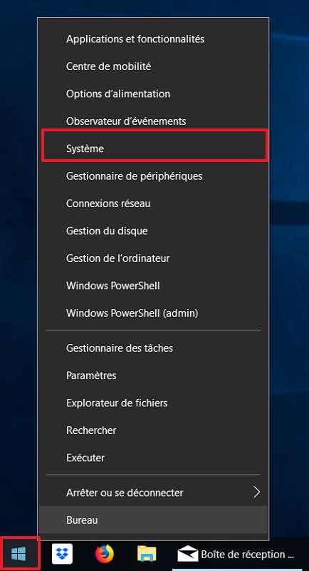 Il faut commencer par un clic droit sur l'icône de démarrage Windows. © Microsoft