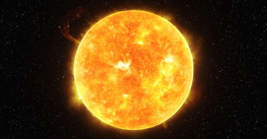 Le phénomène de reconnexion magnétique dont parlent les chercheurs de l'université de Columbia (États-Unis) serait à l'origine aussi des éruptions solaires et des éjections de masse coronales. © lukszczpanski, Adobe Stock