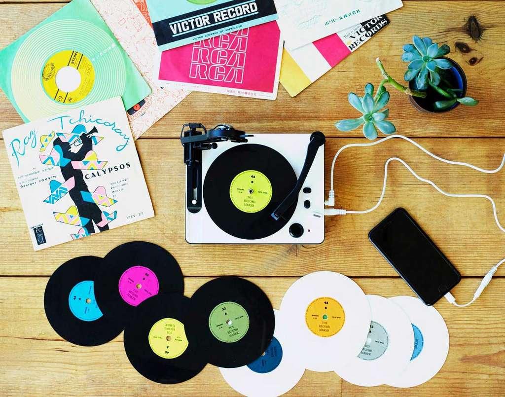 Pour les petits comme les grands, une platine pour jouer ses propres disques en 33 ou 45 tours. © Yuri Suzuki