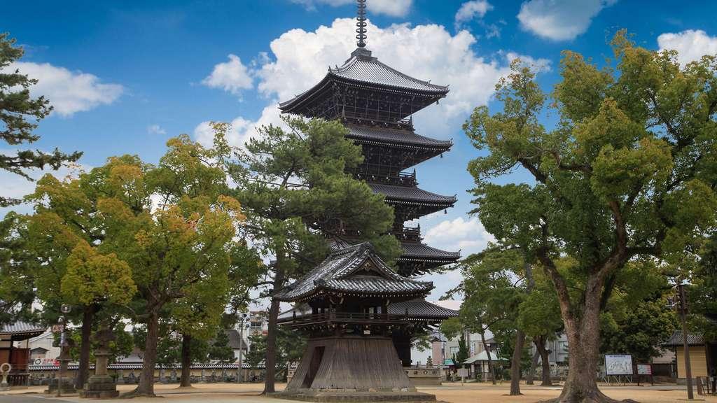 Le temple Zentsuji, lieu de naissance de Kobo Daishi