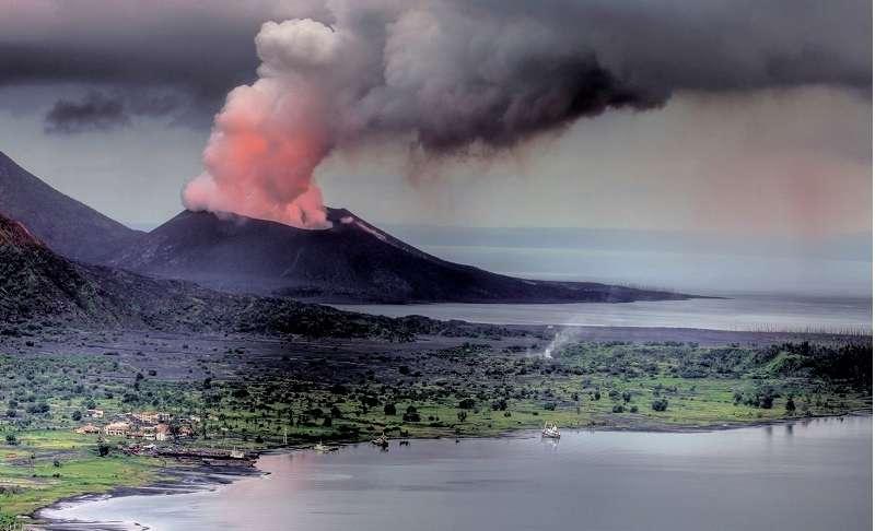 L'éruption du volcan Tavurvur en Papouasie Nouvelle-Guinée en août 2014. © Lawrence Livermore National Laboratory
