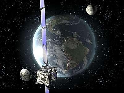 Second survol de la Terre par Rosetta. Crédit Esa