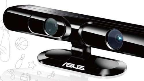 Le Xtion, d'Asus, boîtier muni d'une caméra et de capteurs, ressemblant beaucoup au Kinect, dont il reprend la même technologie. © Asus