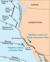 La triple jonction est la zone où les plaques Pacifique, Nord-Américaine, et la plaque Juan de Fuca, se rencontrent