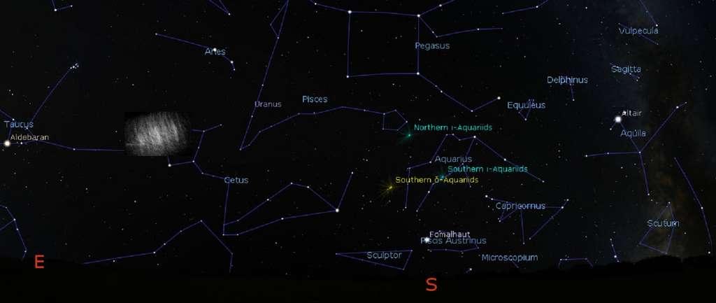 Les nuages de Kordylewski, des sortes de satellites naturels de la Terre, sont des amas de poussière en orbite autour de notre planète à la même distance que la Lune. Leur existence, controversée depuis plus d'un demi-siècle, vient d'être confirmée par des observations inédites et effectuées par imagerie polarimétrique. Ici, une vue d'artiste du nuage de Kordylewski au point de Lagrange L5 du système Terre-Lune. © Gábor Horváth