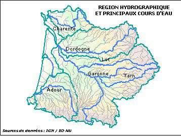 Le bassin Adour-Garonne et son relief. © Agence de l'eau Adour-Garonne