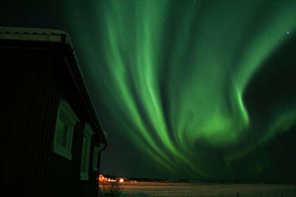 Aurore boréale en Norvège. © Therese van Nieuwenhoven