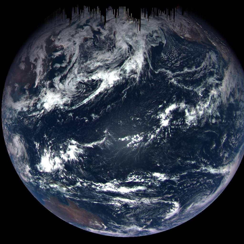 Osiris-Rex était à 170.000 km de la Terre quand cette image a été prise avec la MapCam de la suite d'instruments Ocams (Osiris-Rex Camera Suite). © Nasa, GSFC, University of Arizona