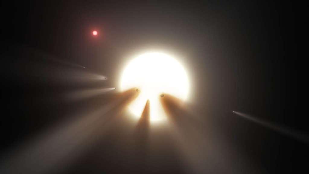 Délogées de la ceinture de Kuiper tous les 27 millions d'années en moyenne, des armées de comètes feraient irruption dans le Système solaire interne. Certaines percuteraient les planètes rocheuses et d'autres se désintégreraient à l'approche du Soleil. © Nasa, JPL-Caltech