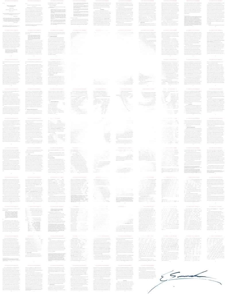 Ce portrait se compose des pages d'un jugement rendu par la Cour d'Appel des États-Unis. © Stay Free, d'après l'œuvre photographique de Platon
