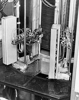 Disque dur IBM 350 : mécanisme des bras