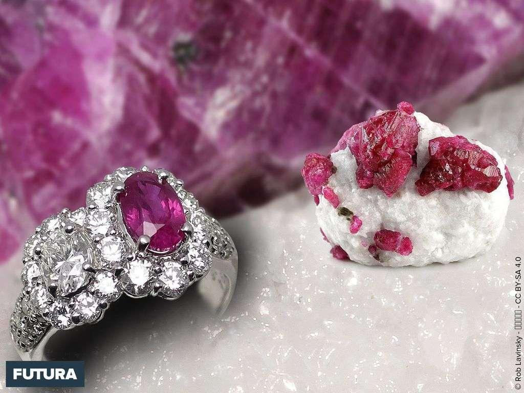 Le rubis est la variété rouge de la famille minérale du corindon