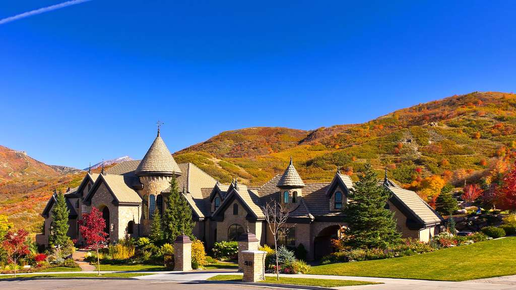 La maison-château de l'Utah (États-Unis)