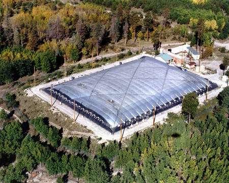 Figure 1. Cliquez pour agrandir. Une vue aérienne de Milagro. Crédit : Los Alamos National Laboratory