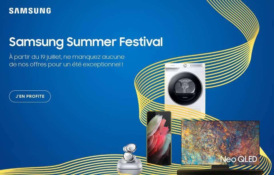 Le Samsung Summer Festival : l'occasion de profiter de nombreux bons plans ! © Samsung