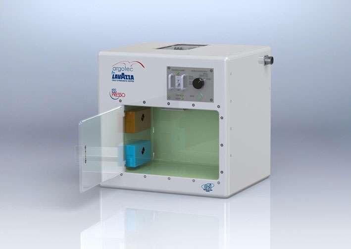 L'ISSpresso développée pour la Station spatiale internationale. © Lavazza, Argotec