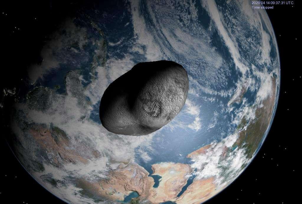 Le Cnes veut profiter du prochain passage d'Apophis au-dessus de la Terre, en 2029, pour envoyer une sonde voler en formation avec lui. L'objectif de la mission est de mieux connaître sa structure interne et son comportement aux effets de marée provoqués par la Terre, voire d'être en capacité de le dévier. © DR