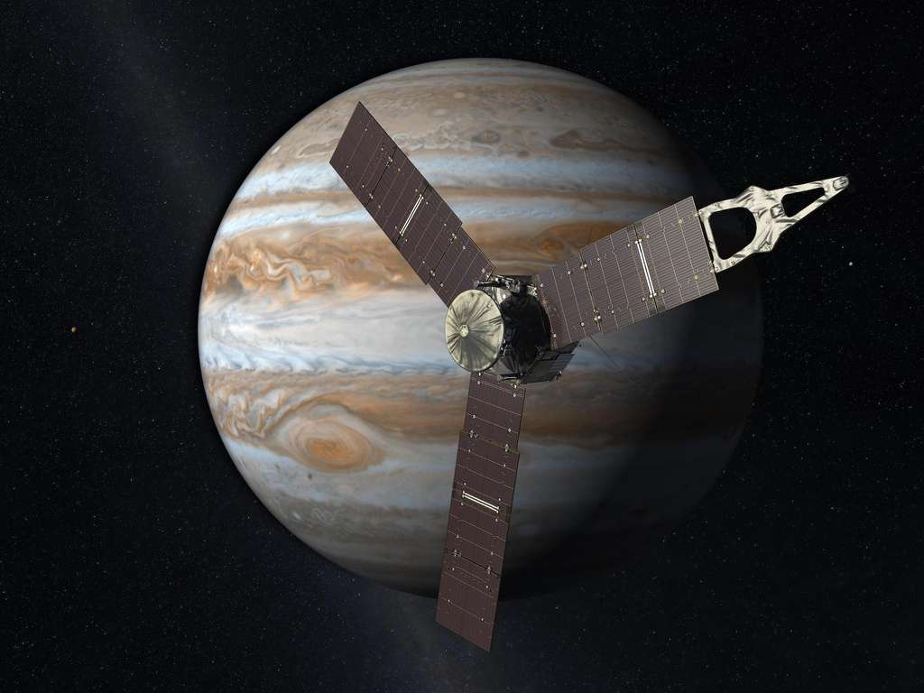 La sonde Juno est arrivée près de Jupiter en juillet 2016. © Nasa