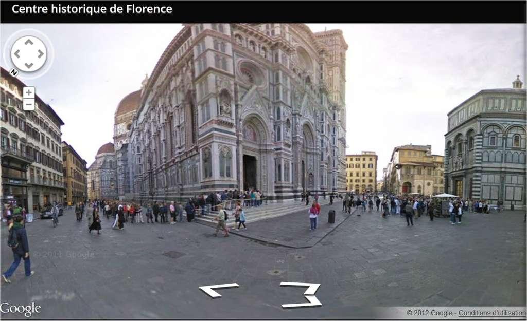 Avec l'interface de Street View, World Wonders montre une sélection de sites historiques, la plupart inaccessibles aux voitures (donc aux Google cars), complétée de vidéos, de modèles 3D et d'informations textuelles. © Google