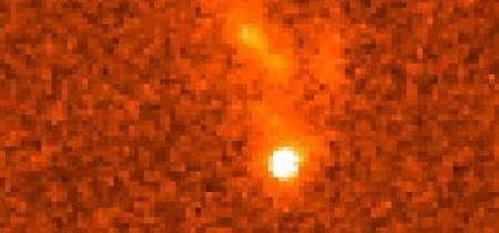 GRG, ou Gamma Ray Burst, vu par le télescope spatial Hubble. Crédit Nasa