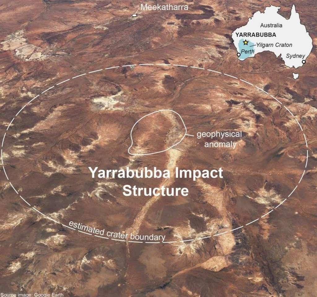 Le cratère Yarrabubba a commencé à manifester sa présence en 2001, suite à des mesures d'aimantation de roche qui ont fait apparaître un arc initialement mystérieux. © Nicholas Timms, Curtin University