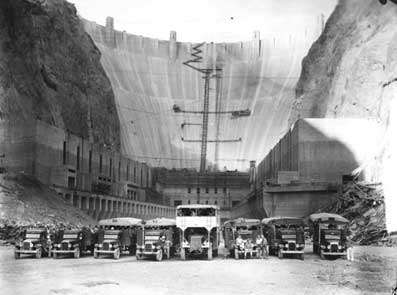 La construction du barrage Hoover. © DR