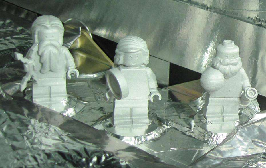 Les figurines Lego de Jupiter, Junon et Galilée. © Nasa/JPL-Caltech/KSC