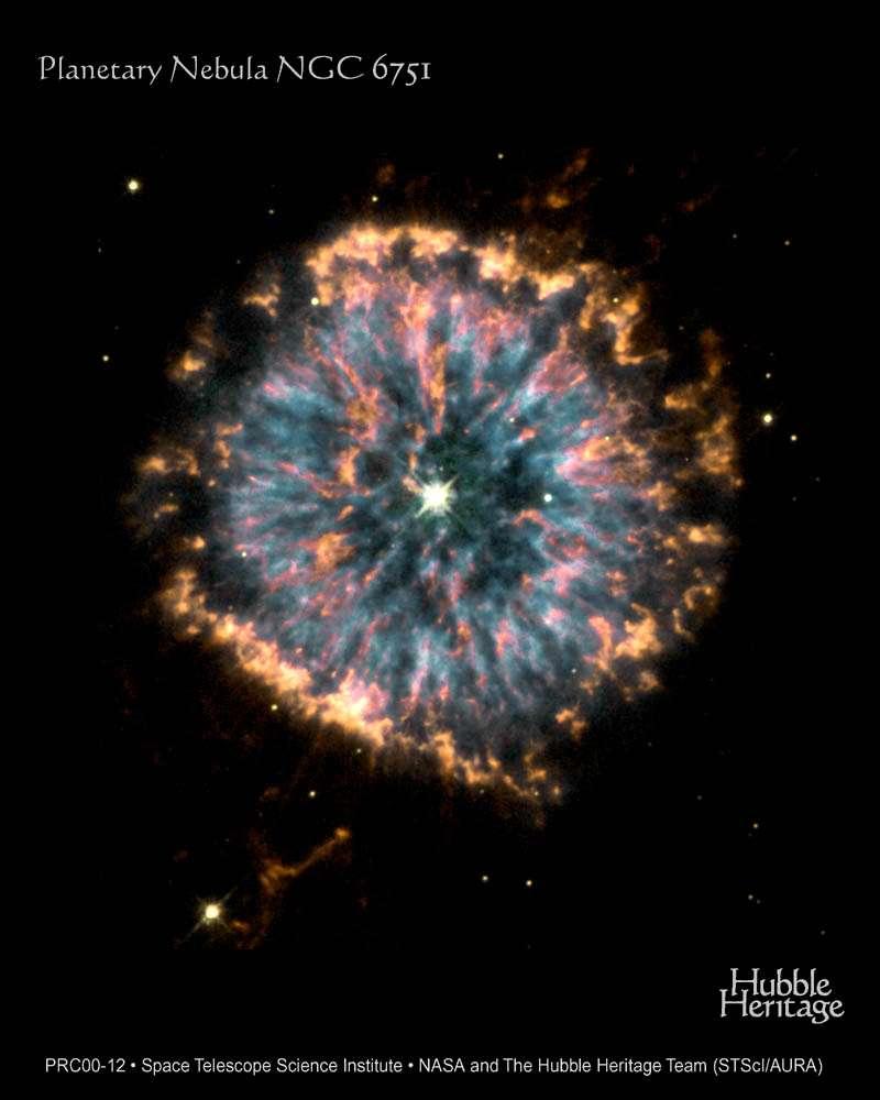 Hubble : Nébuleuse planétaire NGC 6751