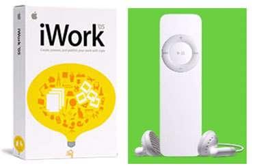 iWork et iPod shuffle ont également été dévoilés.