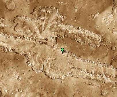 Valles Marineris vue par Google Mars (vue infrarouge). © Nasa/JPL/Arizona State University