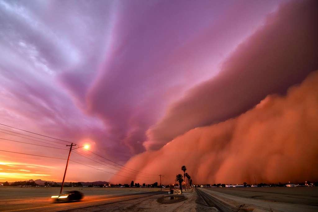 Tempête de poussière. © Tina Wright, Royal Meteorological Society