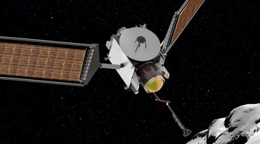 Une représentation du concept de la mission Caesar pour rapporter sur Terre des échantillons cométaires. © Nasa