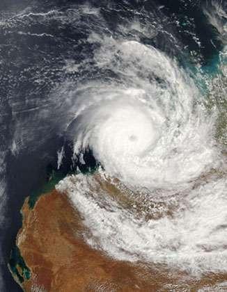 Cyclone en Australie de l'ouest. © DR, reproduction et utilisation interdites