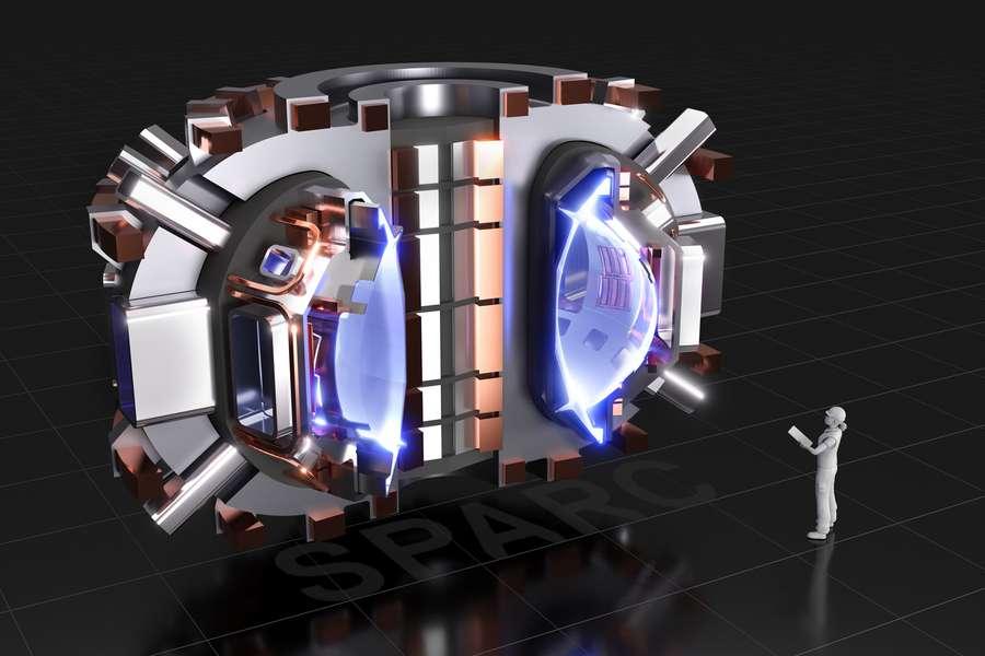Ici, une coupe du réacteur à fusion nucléaire Sparc, un tokamak compact, dont la construction doit commencer en juin 2021 avec pour objectif de créer et de confiner un «plasma brûlant» pour produire de l'énergie par fusion nucléaire. © CFS/MIT-PSFC - Rendu CAO par T.Henderson