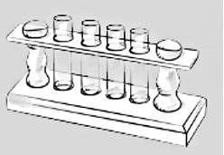 Avec du jus de chou rouge dans chaque tube à essai, les ingrédients ajoutés produisent un changement de couleur, dû à leur pH différent. © Dunod
