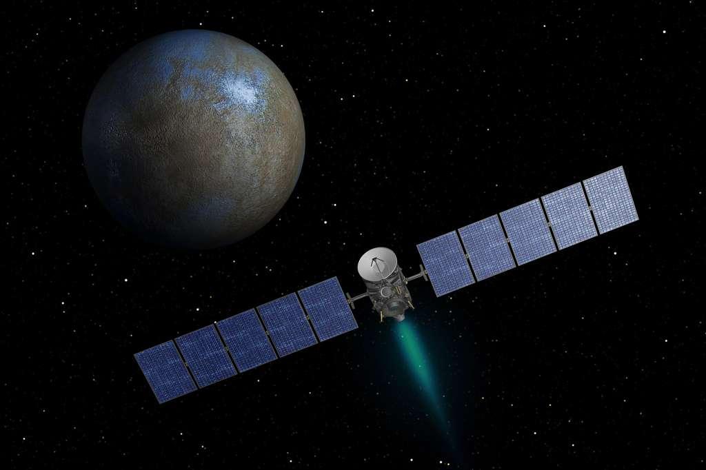 Pas de troisième cible pour Dawn. Alors que l'équipe scientifique du projet souhaitait envoyer la sonde Dawn à destination de 145 Adeona, la Nasa a dit non. © Nasa, JPL-Caltech