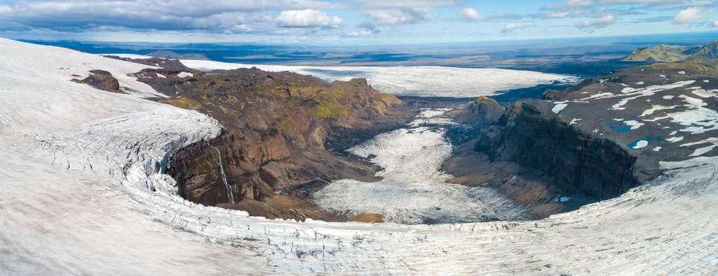 L'Islande vue du ciel : la fin d'un glacier