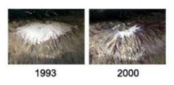 Les neiges du Kilimandjaro entre 1993 et 2000