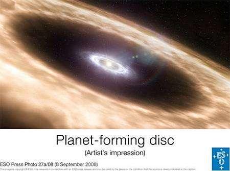 Représentation d'un disque stellaire. Crédit : ESO (European Southern Observatory)